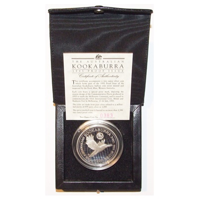 1995 2oz Kookaburra - Proof Issue - Florin Privy