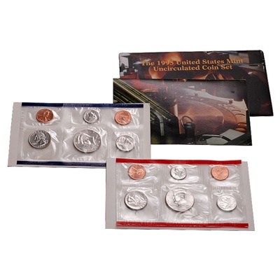 1995 United States Mint Uncirculated Coin Set (P & D)