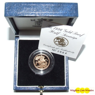 1996 Gold Proof ½ Sovereign