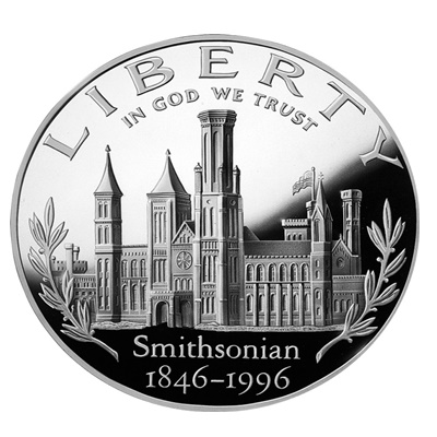 1996 Smithsonian Institution Silver Proof USA $1 (Capsule)