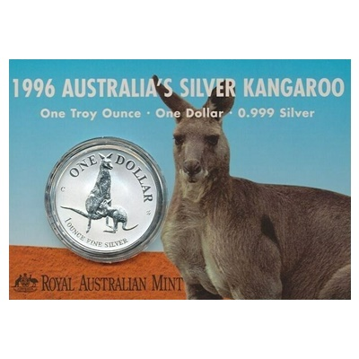 1996 1oz Silver KANGAROO (Display Card)
