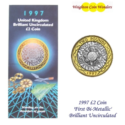 1997 £2 BU Coin Pack - First Bi-Metallic Coin
