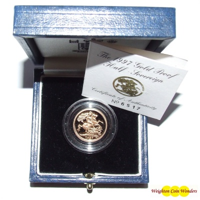 1997 Gold Proof ½ Sovereign