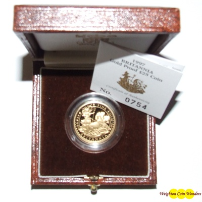 1997 Gold Proof 1/10th oz Britannia - Chariot Design