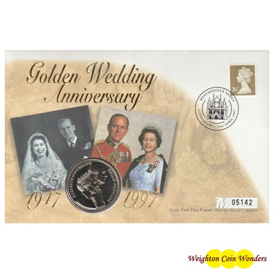 1997 Golden Wedding Anniversary £5 Coin