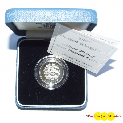 1997 Silver Proof £1