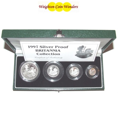 1997 Silver Proof BRITANNIA 4 Coin Set