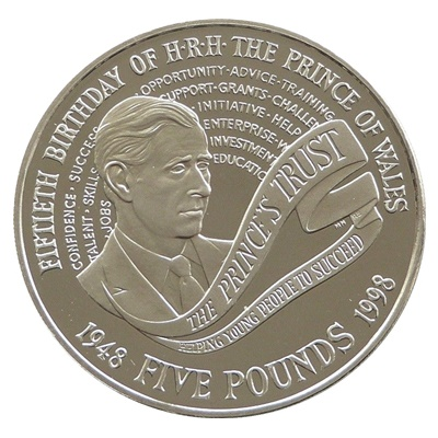1998 £5 - Prince Charles 50th Birthday