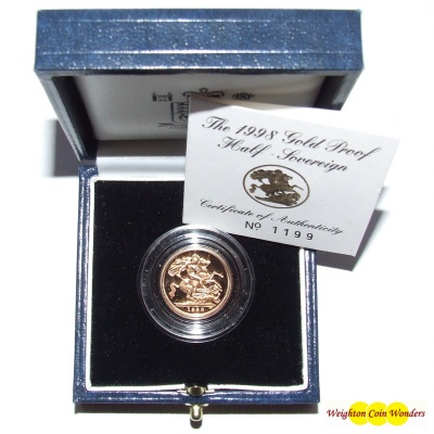 1998 Gold Proof ½ Sovereign