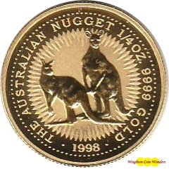 1998 1/4oz Gold NUGGET (Kangaroo)