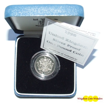 1998 Silver Proof £1