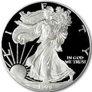 1998 USA 1oz Silver Proof EAGLE