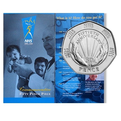 1998 BU 50p Coin Pack - 50th Anniversary NHS