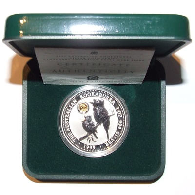 1999 Silver 1oz KOOKABURRA - Centenary Sovereign Privy Mark