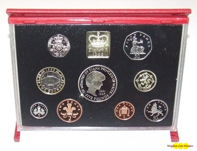 """1999 /""""In Memory of Diana/"""" Great Britain Deluxe Proof Set Royal Mint"""