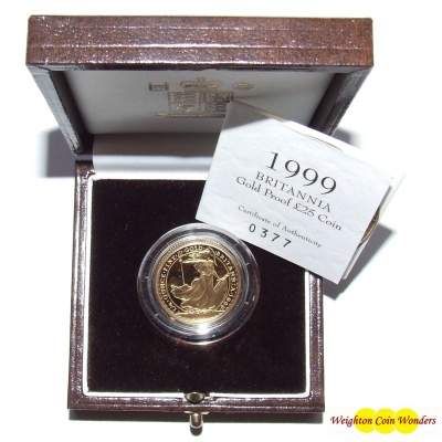1999 Gold Proof ¼ oz Britannia
