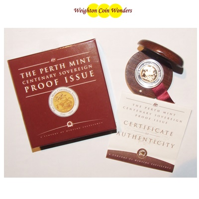 1999 Perth Mint Centenary SOVEREIGN - Boxed