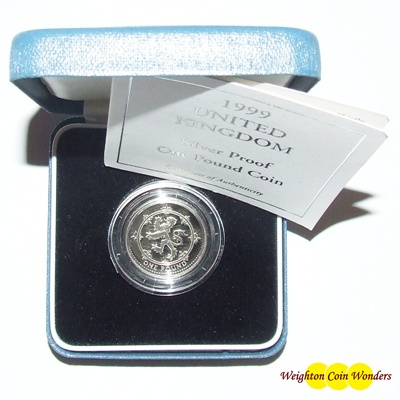 1999 Silver Proof £1