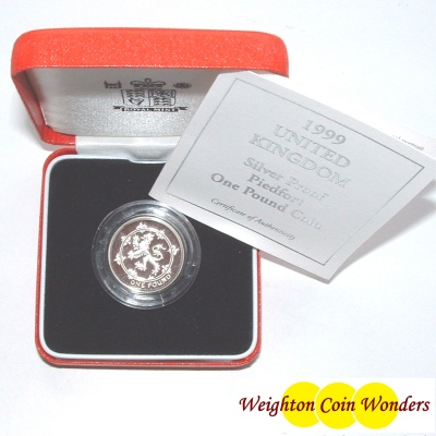 1999 Silver Proof PIEDFORT £1