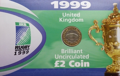 1999 UK BU £2 Coin – Rugby World Cup