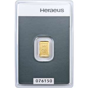1g GOLD Bar - Hereaus
