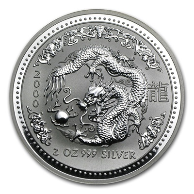 2000 Silver 2oz Lunar DRAGON