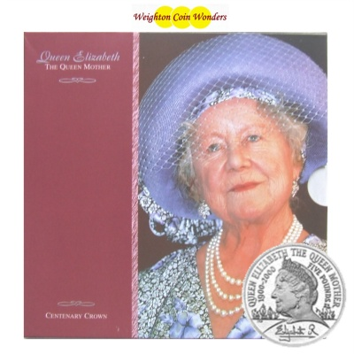 2000 BU £5 Crown Pack – Queen Mother 100th Birthday