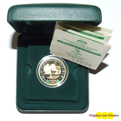 2000 'Sydney 2000' $100 Gold Proof Coin - Preparation