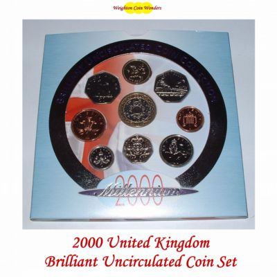 2000 Brilliant Uncirculated Coin Set - Millennium