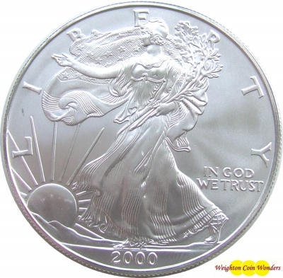 2000 USA 1oz Silver Eagle - BU
