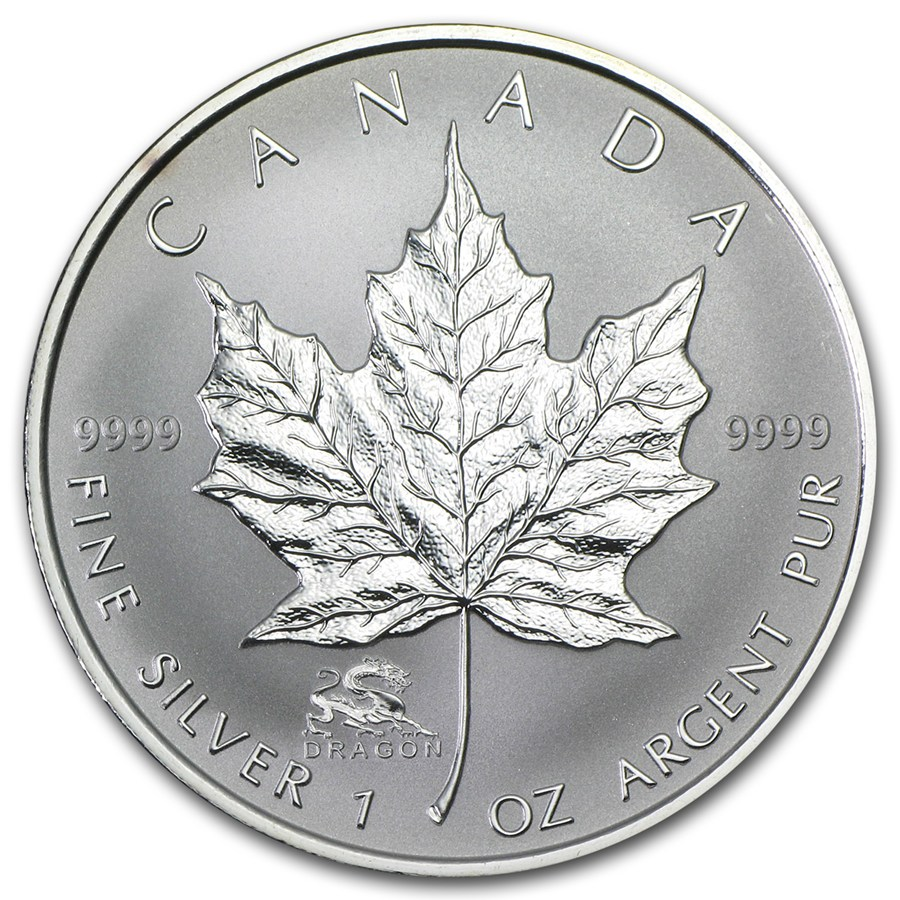 2012 1oz Silver Maple - DRAGON Privy Mark