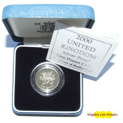 2000 Silver Proof £1