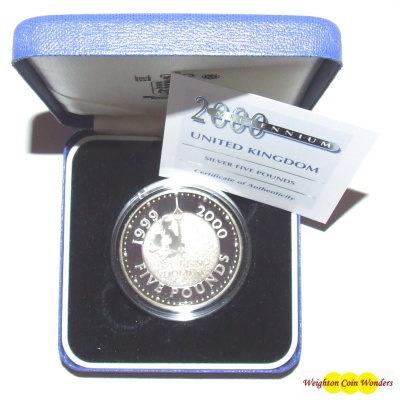 2000 Silver Proof £5 Crown - Millennium