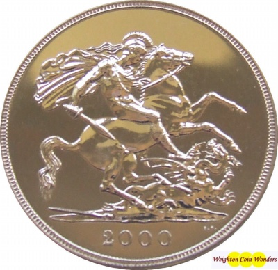 2000 QEII Gold Sovereign