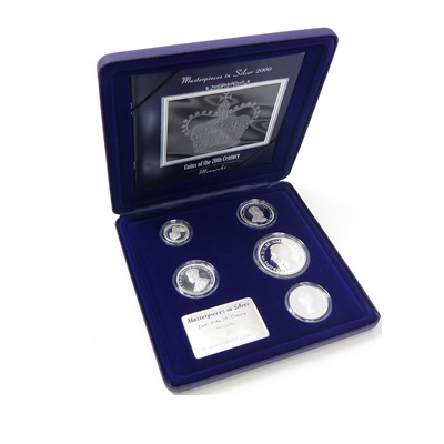 2000 Masterpieces in Silver Five Coin Collection