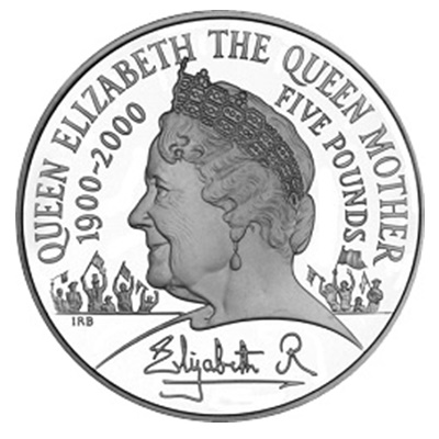 2000 £5 - Queen Mother Centenary