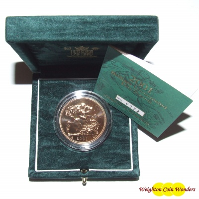 2001 Gold £5 Coin – Brilliant Uncirculated
