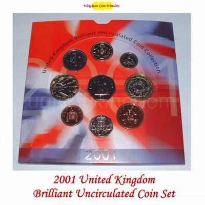 2001 Brilliant Uncirculated Coin Set