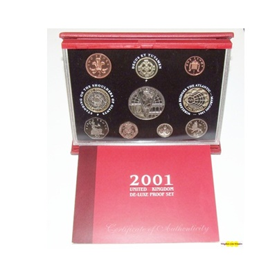 2001 Royal Mint Deluxe Proof Set