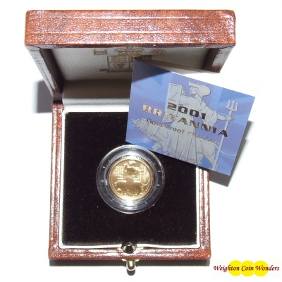 2001 Gold Proof 1/10th oz Britannia