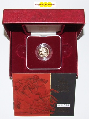 2001 Gold Proof 1/2 Sovereign