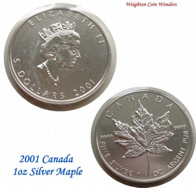 2001 1oz Silver Maple