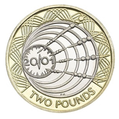 2001 £2 Coin - Transatlantic Wireless