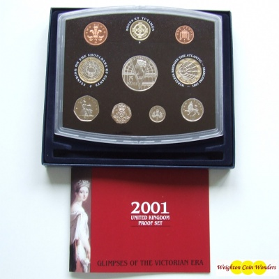 2001 Royal Mint Standard Proof Set