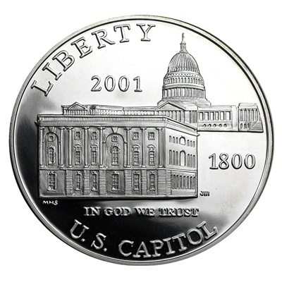 2001 Capitol Visitor Center Silver Proof $1 (Capsule)