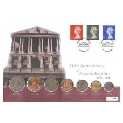 2001 30th Anniversary of Decimalisation Coin Set