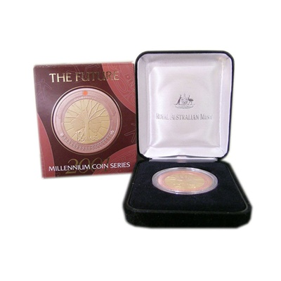 2000 $10 Bi-Metallic Silver Proof - Millennium Series - Future