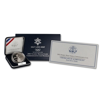 2002 Olympic Winter Games Silver Proof $1