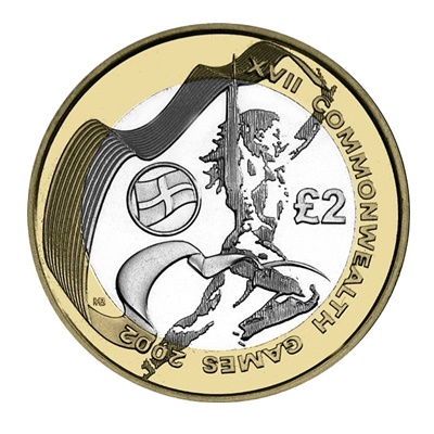2002 £2 Coin - XVII Commonwealth Games England