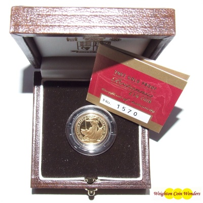 2002 Gold Proof 1/10th oz Britannia